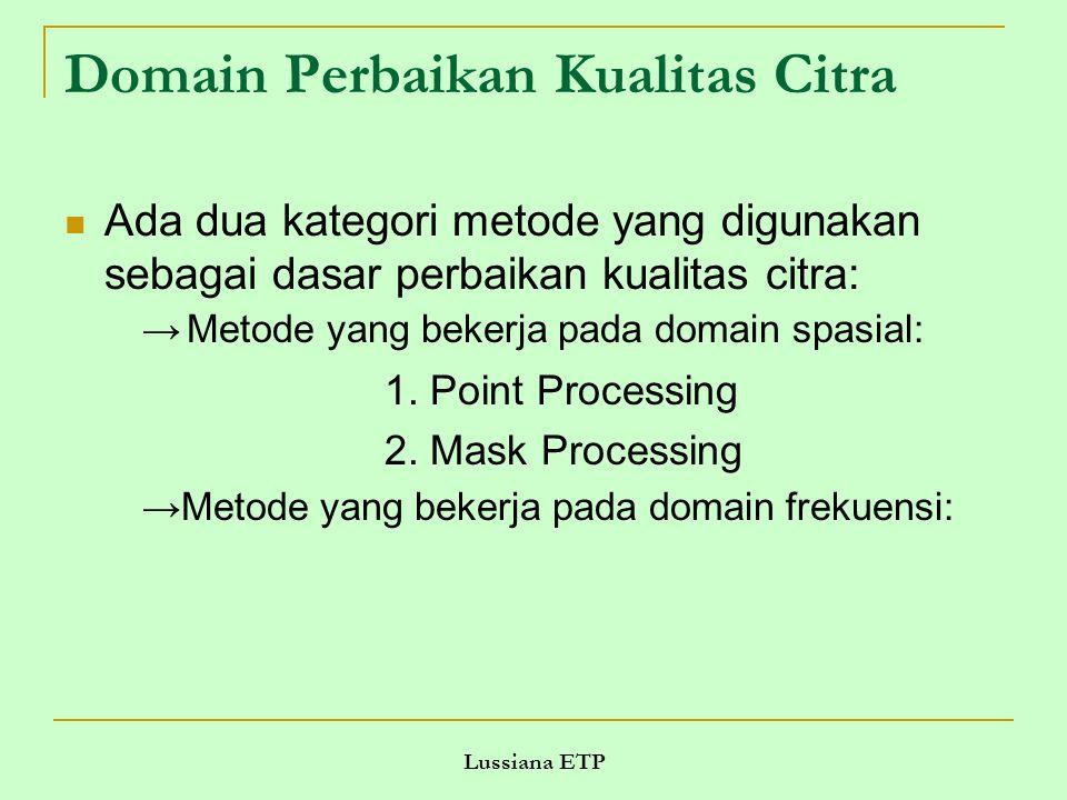 Domain Perbaikan Kualitas Citra