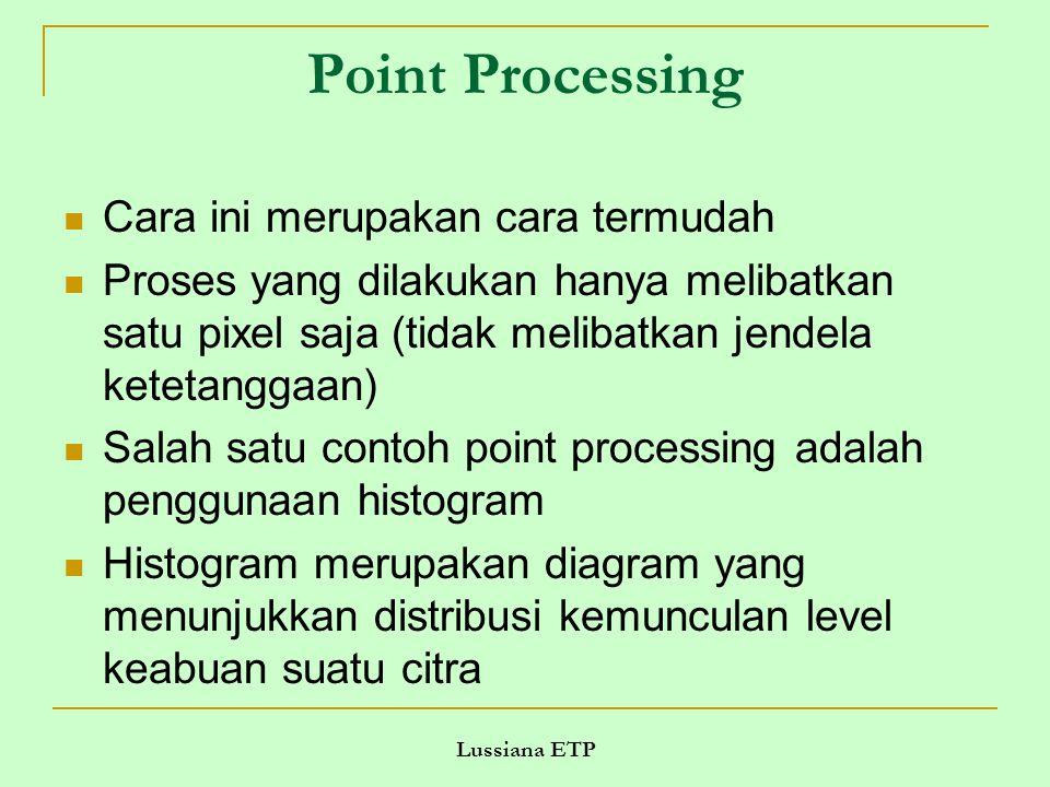 Point Processing Cara ini merupakan cara termudah