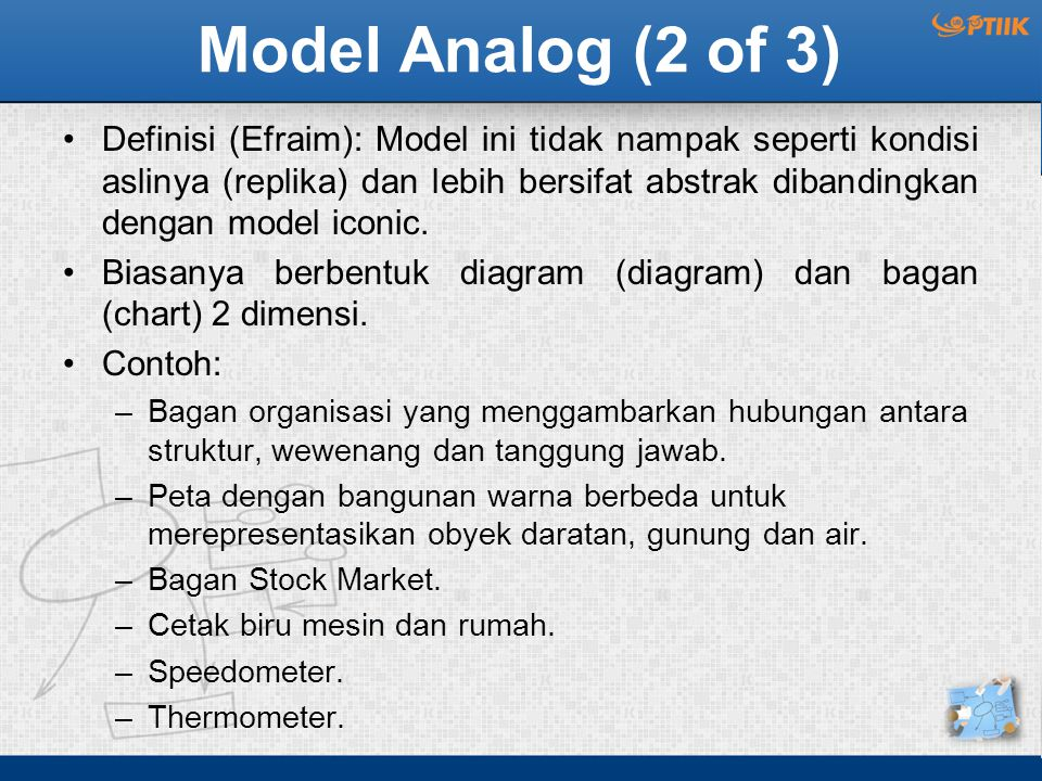 Model Analog (2 of 3)