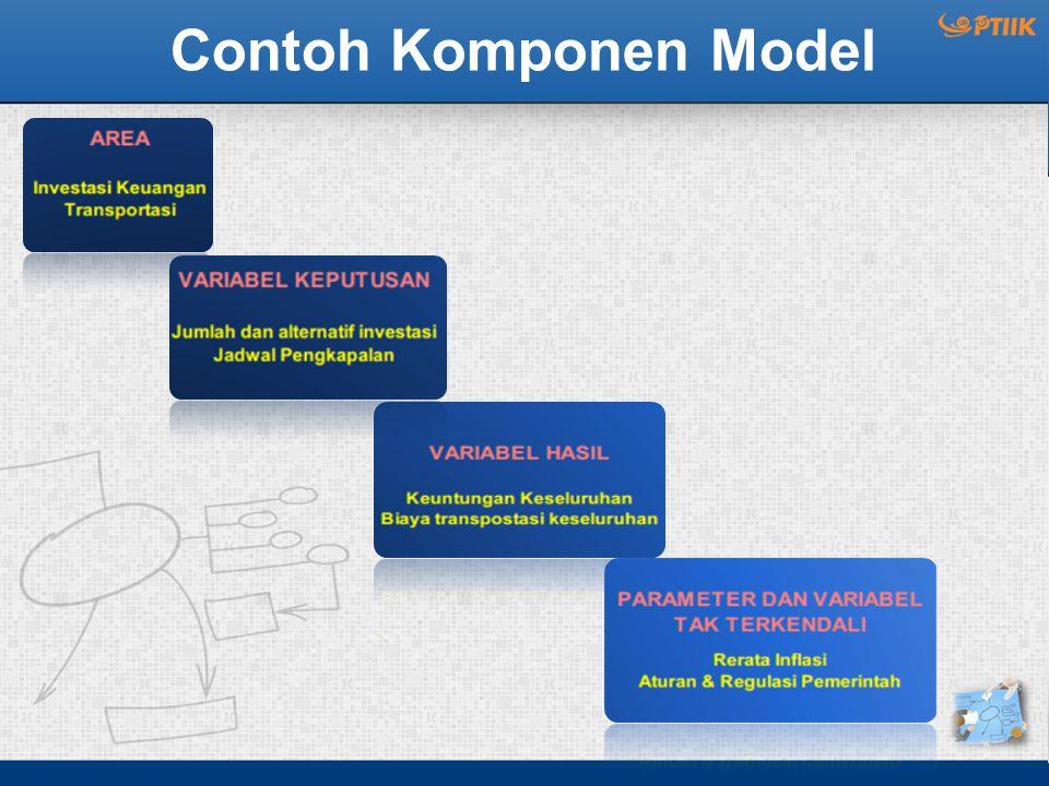 Contoh Komponen Model