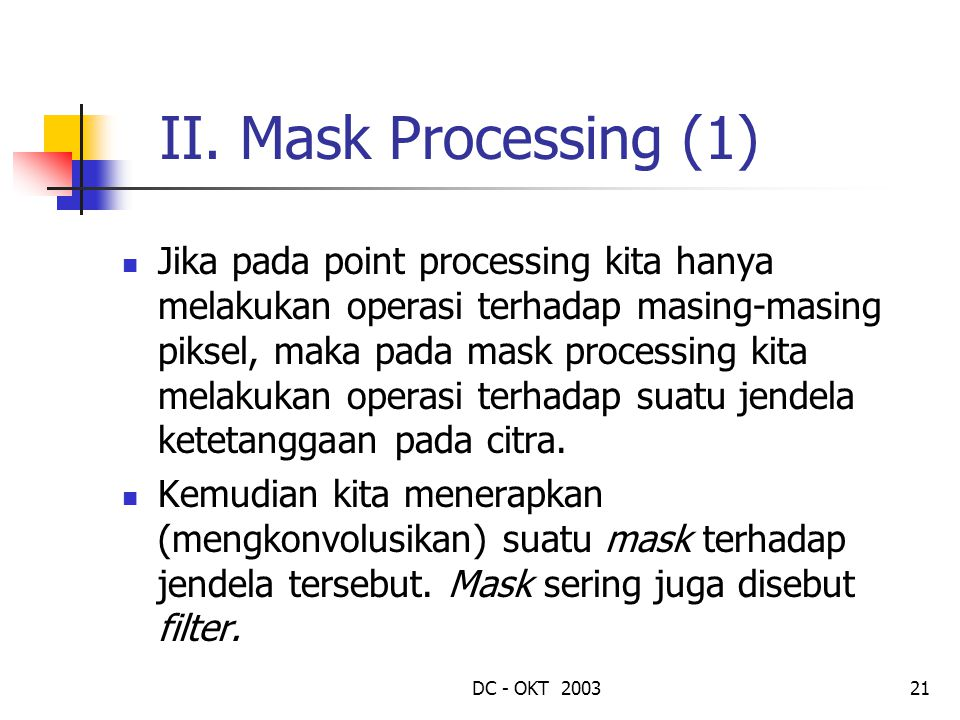 II. Mask Processing (1)