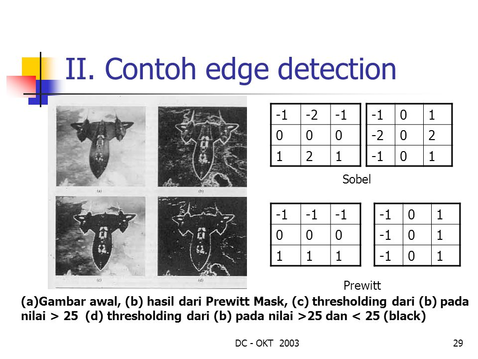 II. Contoh edge detection