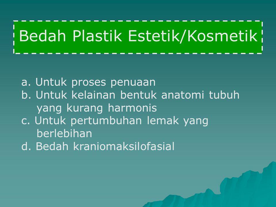 Bedah Plastik Estetik/Kosmetik