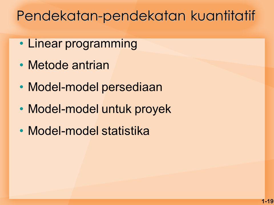 Pendekatan-pendekatan kuantitatif