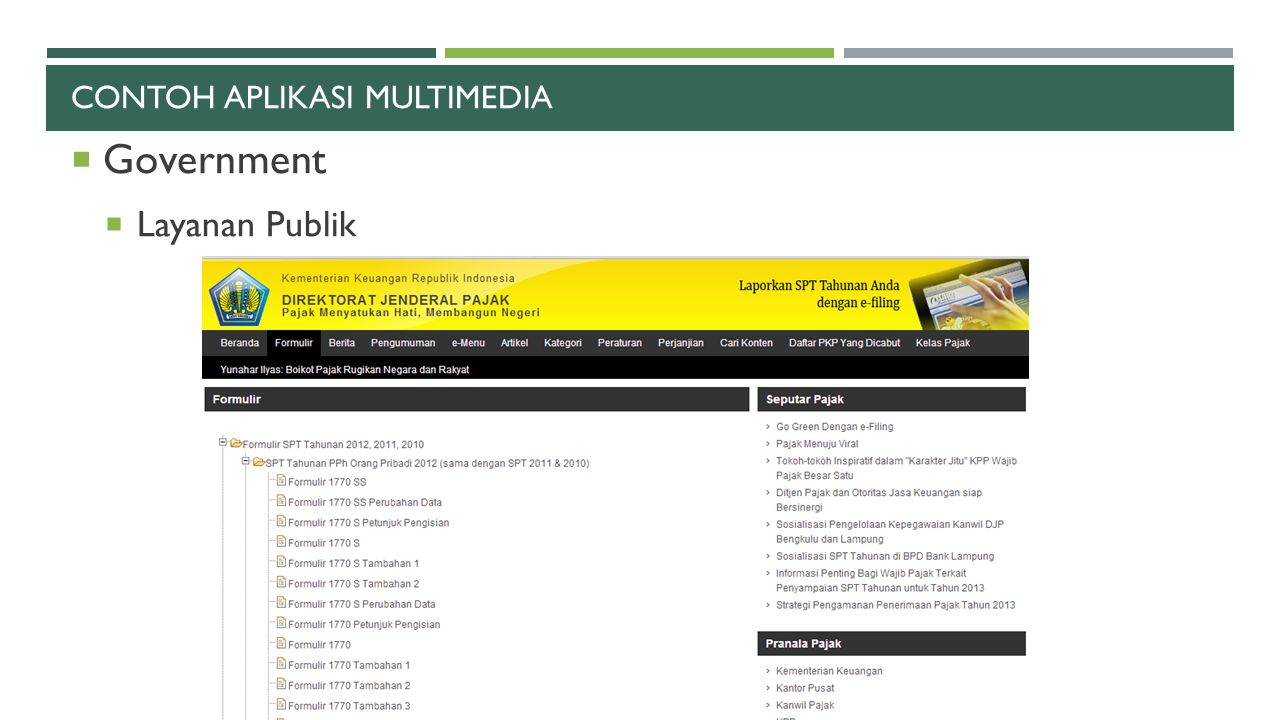 Contoh aplikasi multimedia