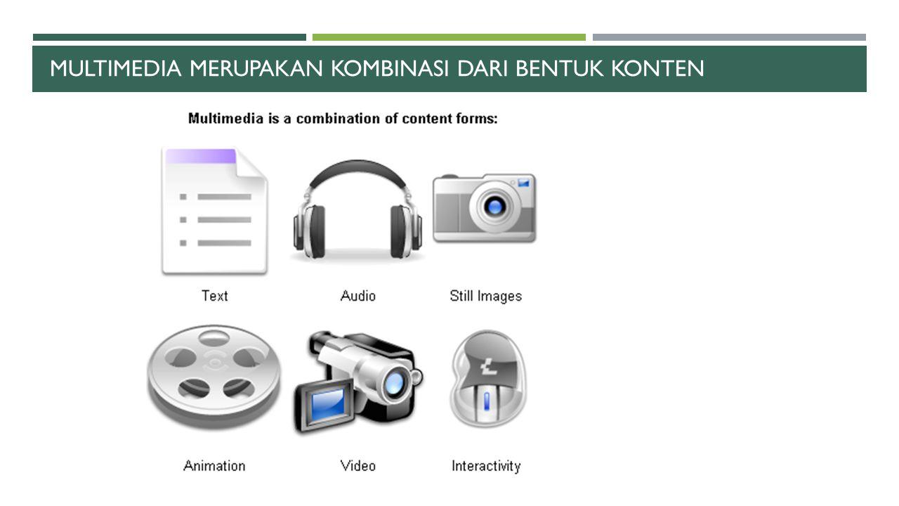 Multimedia merupakan kombinasi dari bentuk konten