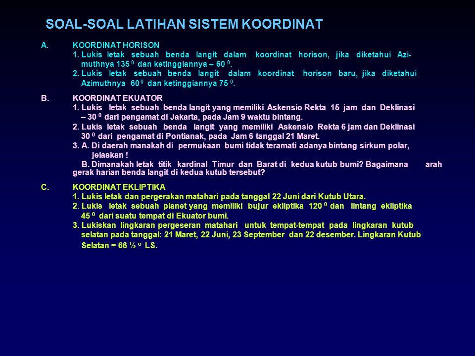 SOAL-SOAL LATIHAN SISTEM KOORDINAT