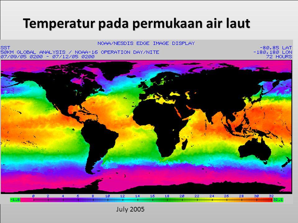 Temperatur pada permukaan air laut