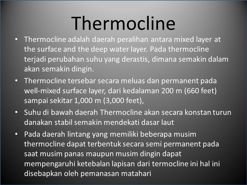 Thermocline