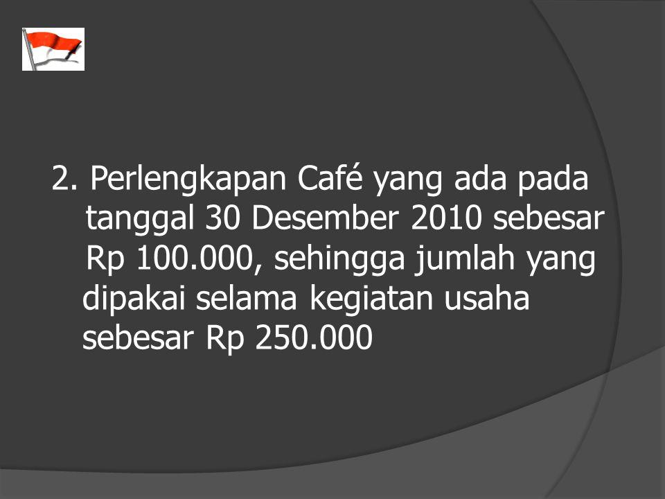 2. Perlengkapan Café yang ada pada