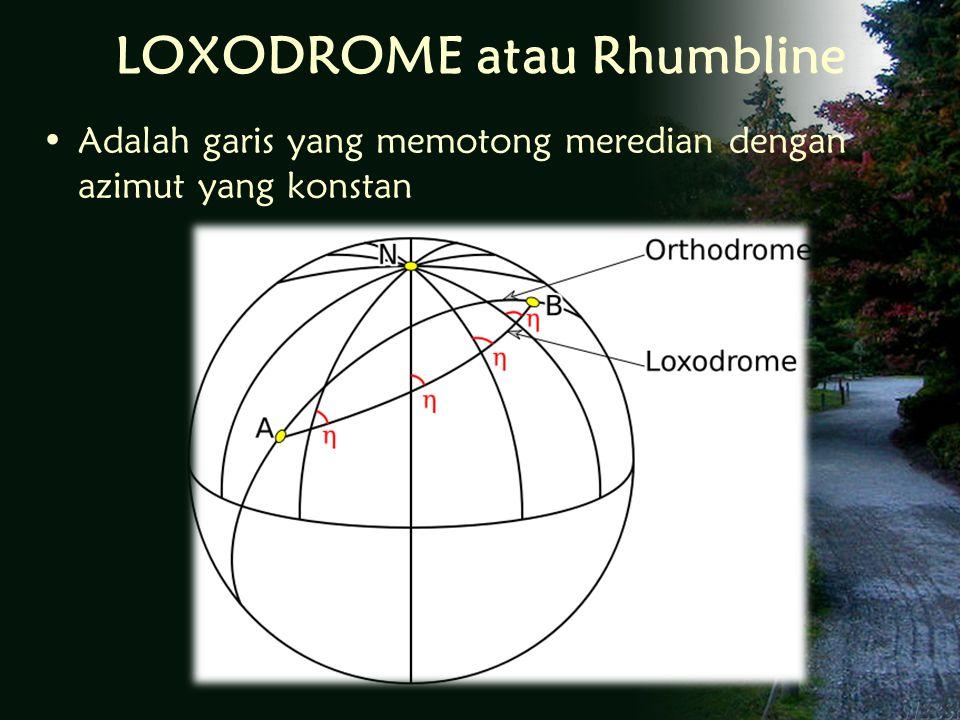 LOXODROME atau Rhumbline