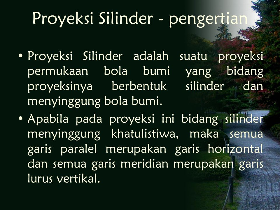 Proyeksi Silinder - pengertian