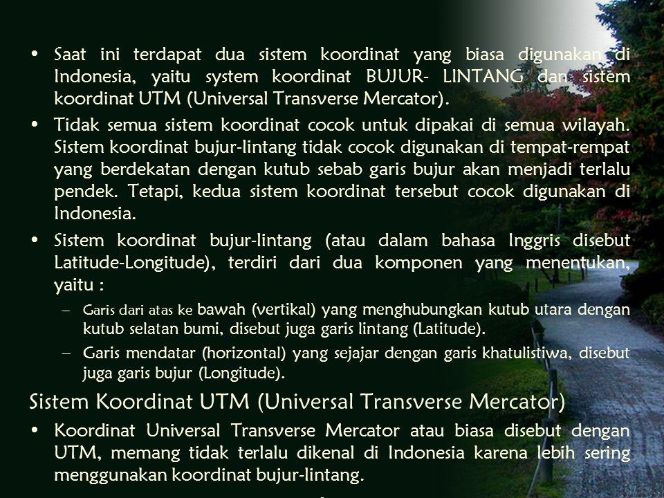 Sistem Koordinat UTM (Universal Transverse Mercator)