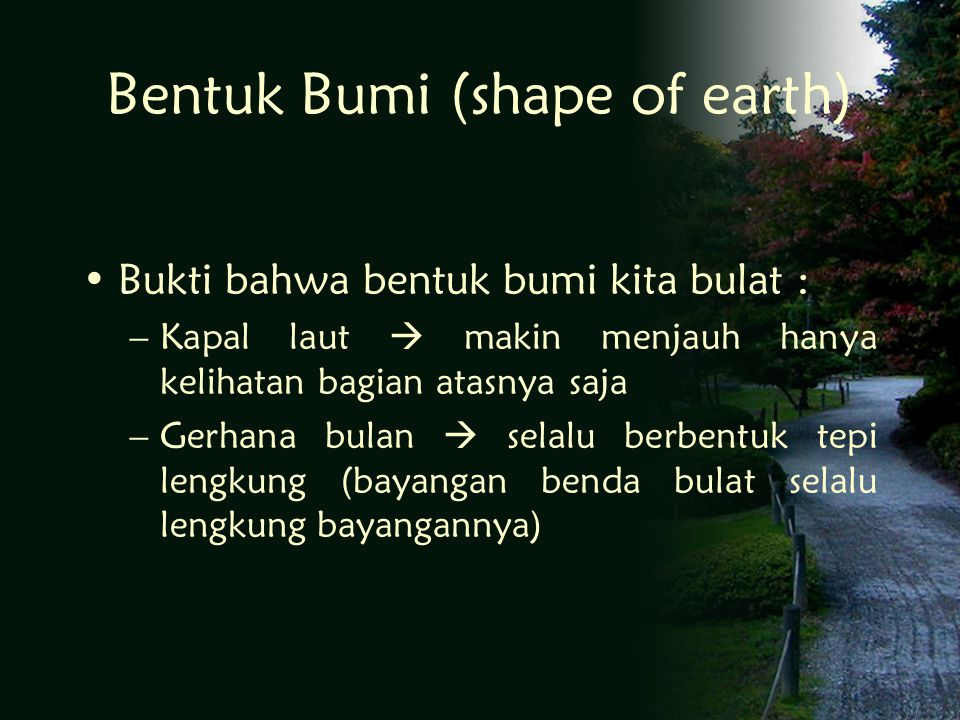 Bentuk Bumi (shape of earth)
