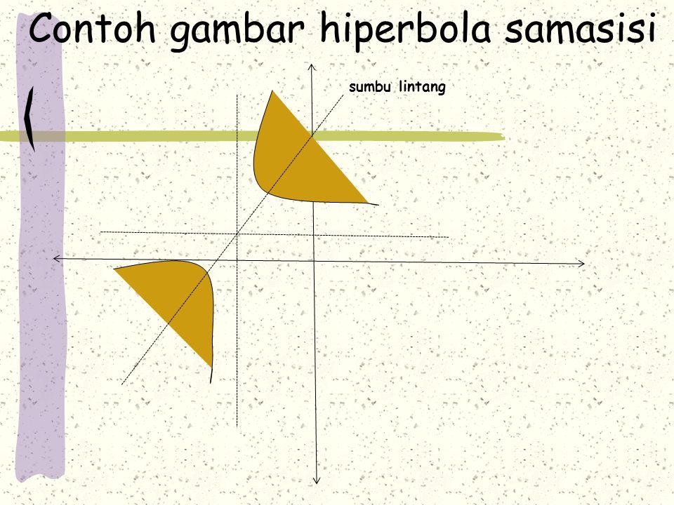 Contoh gambar hiperbola samasisi