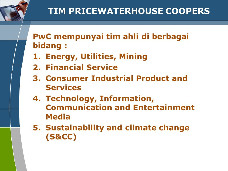 TIM PRICEWATERHOUSE COOPERS