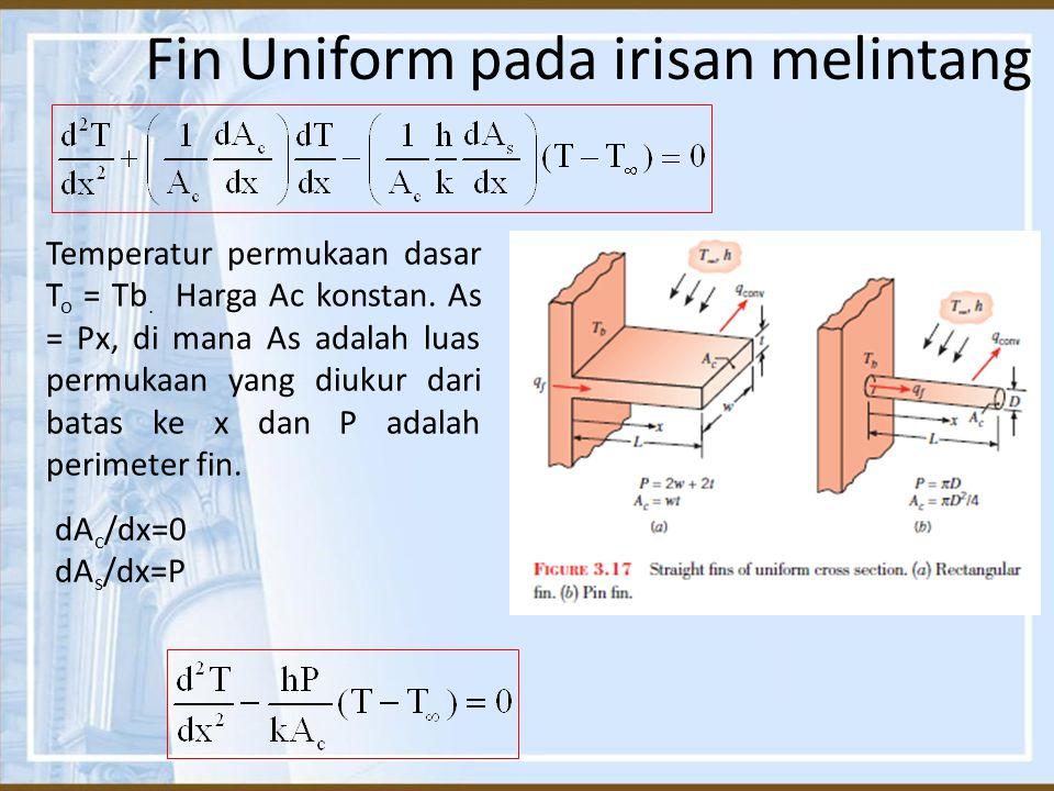 Fin Uniform pada irisan melintang