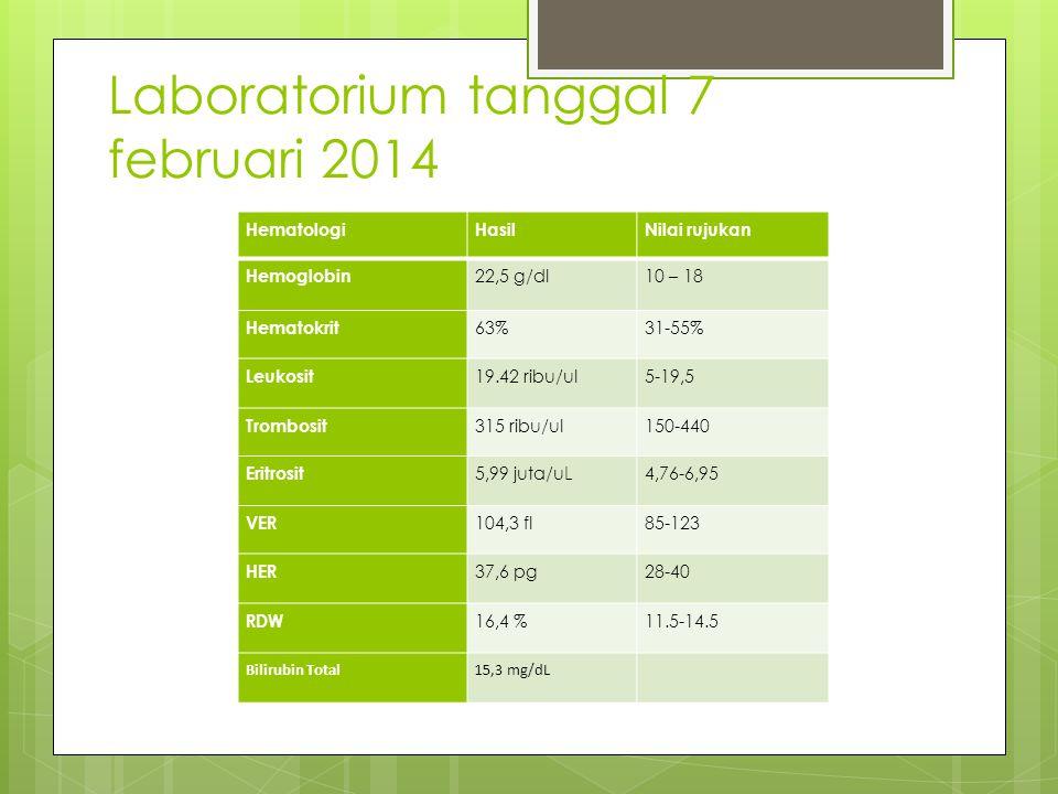 Laboratorium tanggal 7 februari 2014