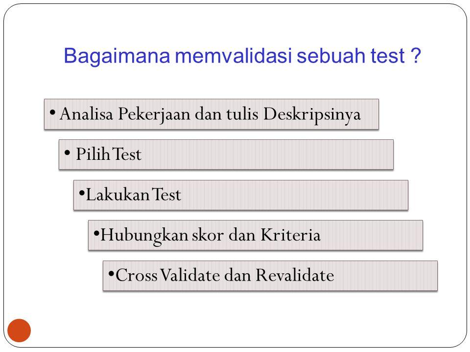 Bagaimana memvalidasi sebuah test