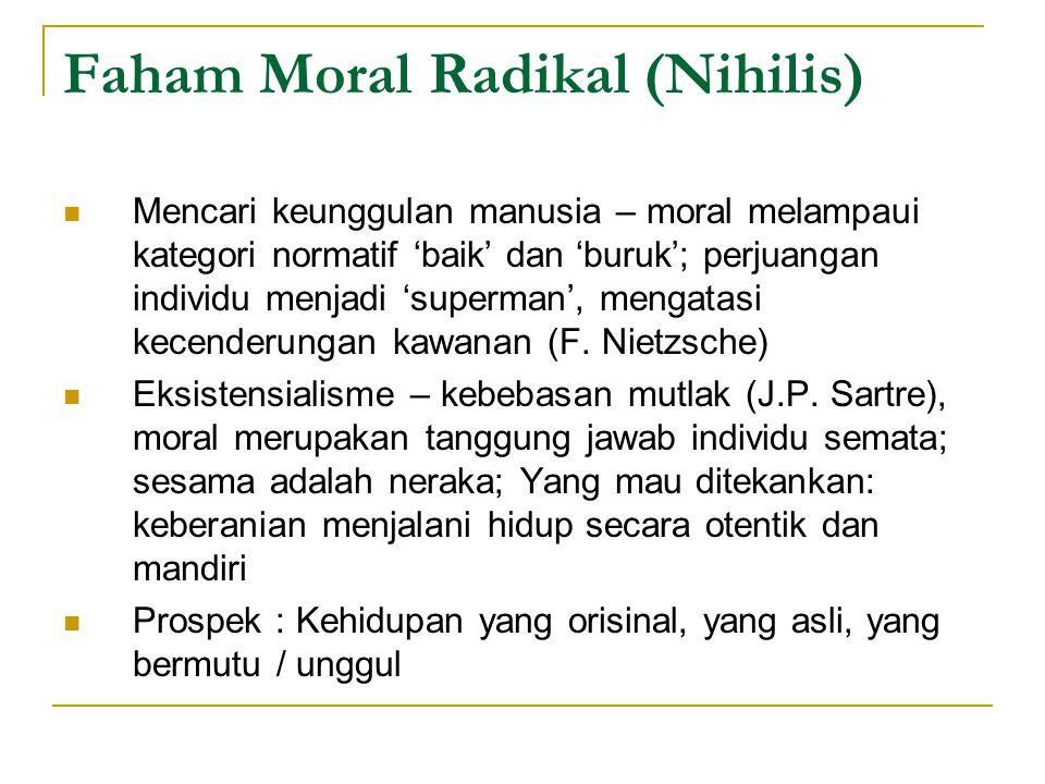 Faham Moral Radikal (Nihilis)
