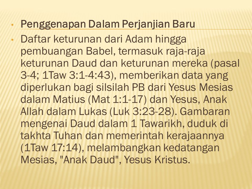 Penggenapan Dalam Perjanjian Baru