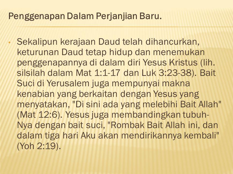Penggenapan Dalam Perjanjian Baru.