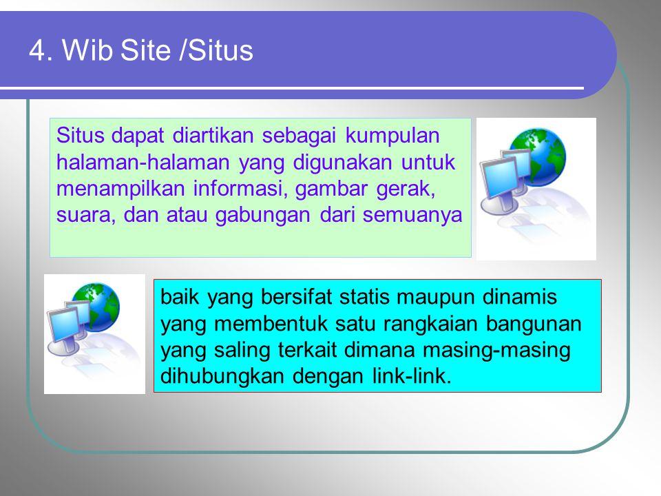 4. Wib Site /Situs