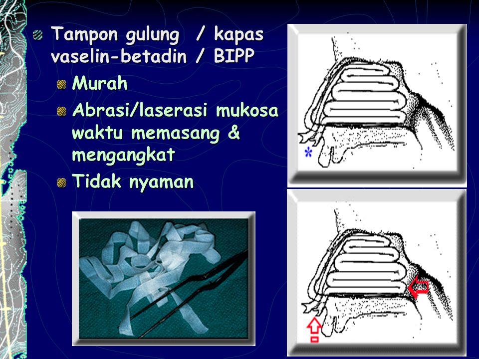 Tampon gulung / kapas vaselin-betadin / BIPP