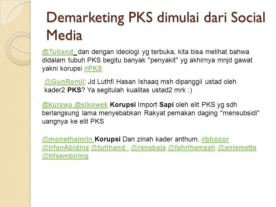 Demarketing PKS dimulai dari Social Media