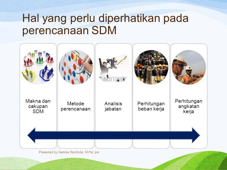 Hal yang perlu diperhatikan pada perencanaan SDM