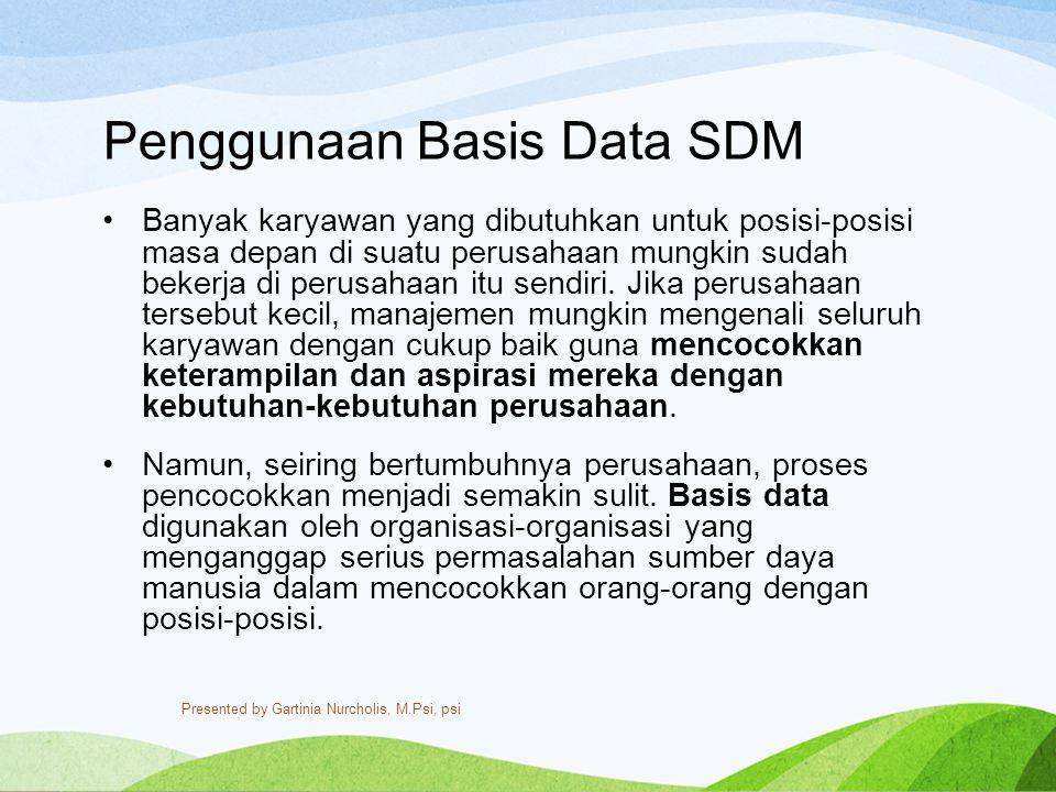 Penggunaan Basis Data SDM