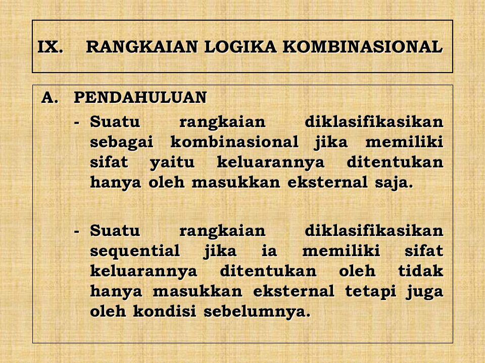 IX. RANGKAIAN LOGIKA KOMBINASIONAL
