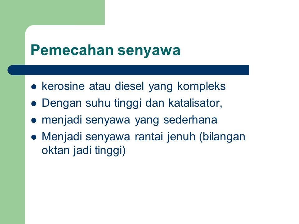 Pemecahan senyawa kerosine atau diesel yang kompleks