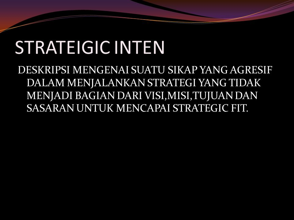 STRATEIGIC INTEN