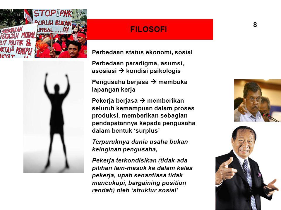 FILOSOFI 8 Perbedaan status ekonomi, sosial