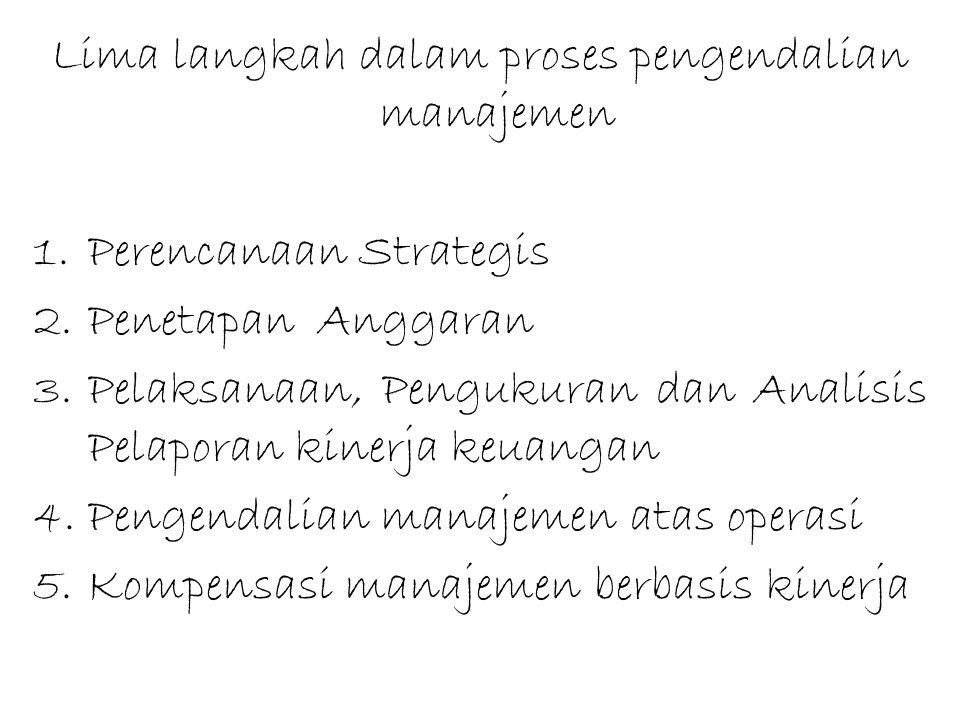 Lima langkah dalam proses pengendalian manajemen