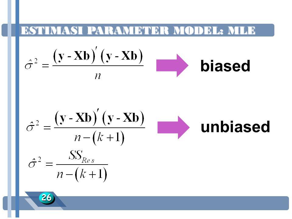 ESTIMASI PARAMETER MODEL: MLE