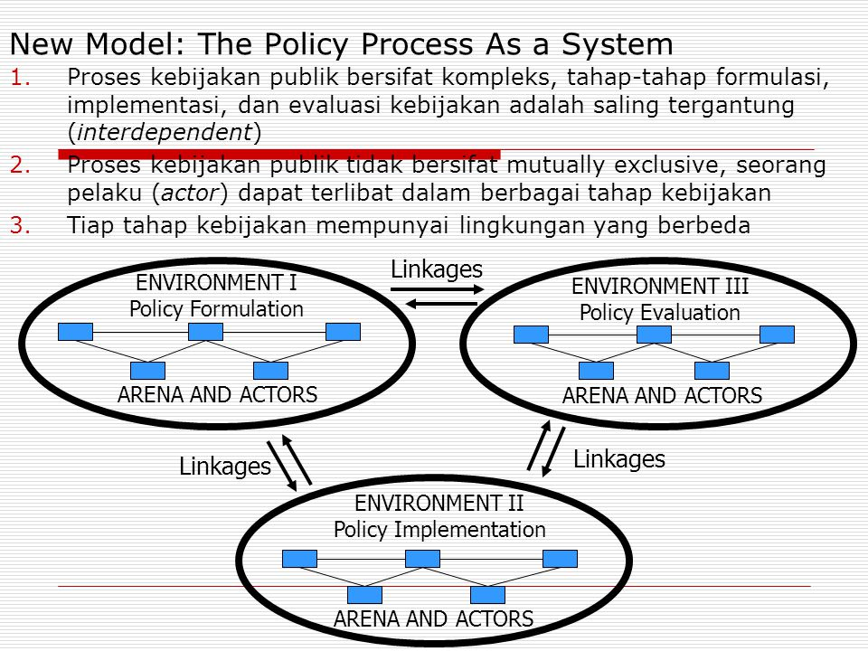New Model: The Policy Process As a System