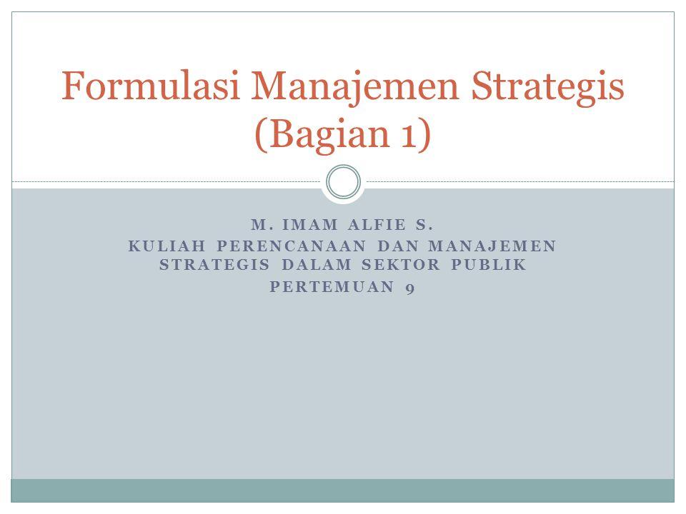 Formulasi Manajemen Strategis (Bagian 1)