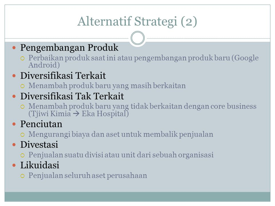 Alternatif Strategi (2)
