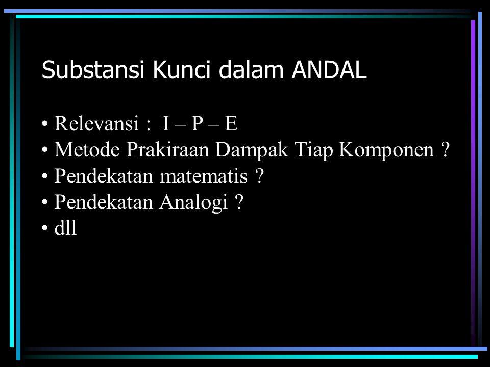 Substansi Kunci dalam ANDAL