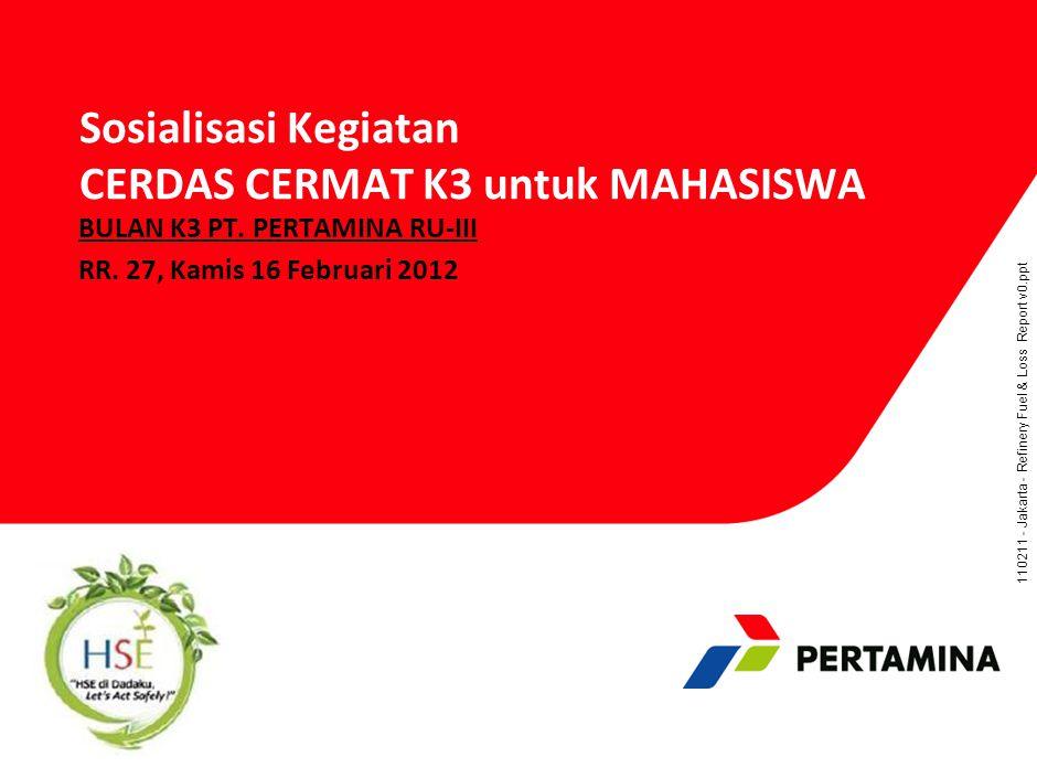 Agenda Rapat Bulan K3 PT. Pertamina Persero Bentuk Acara