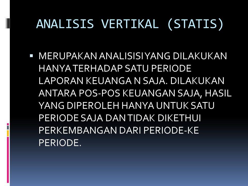 ANALISIS VERTIKAL (STATIS)