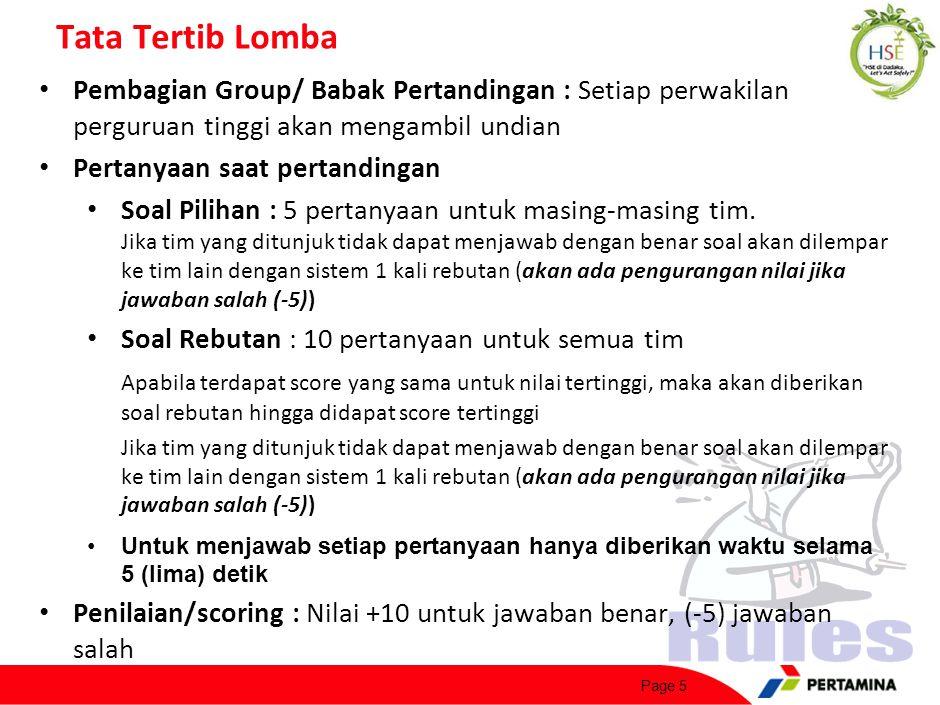 Tata Tertib Lomba (cont'd)