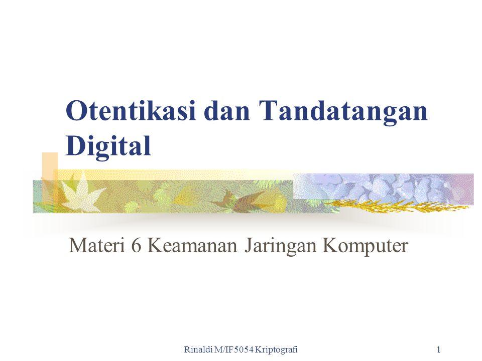 Otentikasi dan Tandatangan Digital