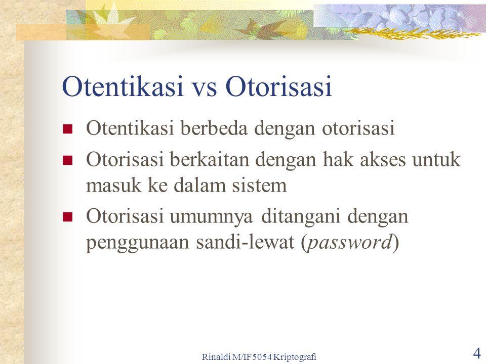 Otentikasi vs Otorisasi