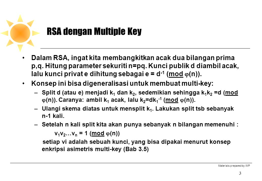 RSA dengan Multiple Key