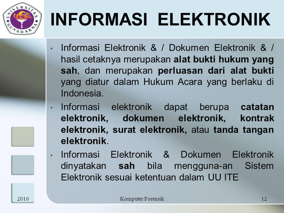 INFORMASI ELEKTRONIK