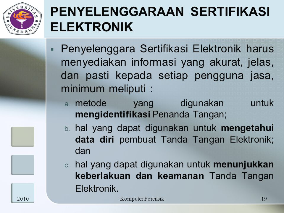 PENYELENGGARAAN SERTIFIKASI ELEKTRONIK