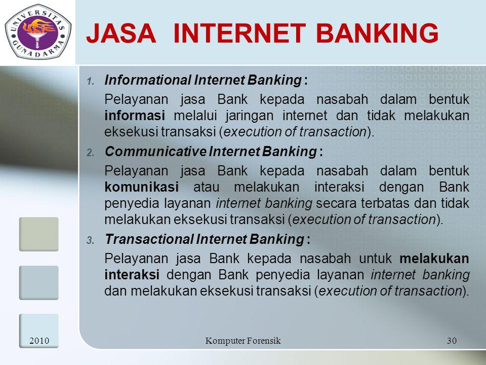 JASA INTERNET BANKING Informational Internet Banking :